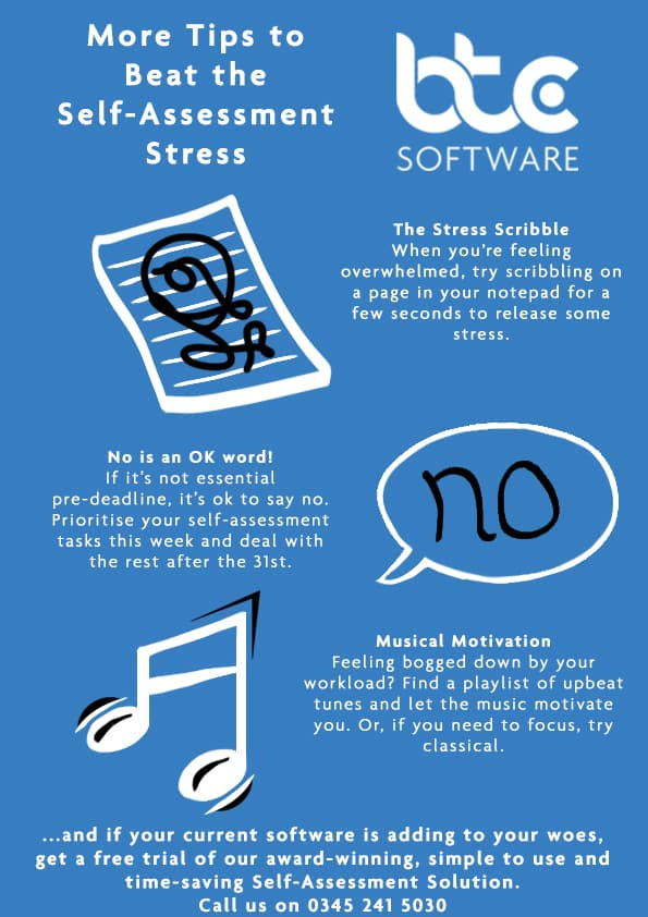 Beat the Self Assessment Stress Top Tips from BTCSoftware